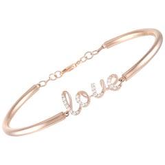LB Exclusive 14 Karat Rose Gold 0.25 Carat Diamond Love Bracelet