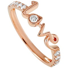 LB Exclusive 14 Karat Rose Gold 0.25 Carat Diamond Love Ring