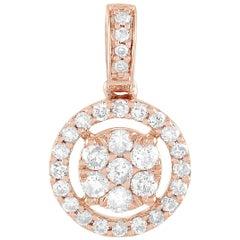 LB Exclusive 14 Karat Rose Gold 0.25 Carat Diamond Pendant