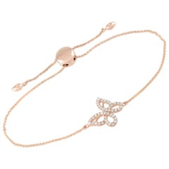 LB Exclusive 14 Karat Rose Gold 0.30 Carat Diamond Butterfly Bracelet