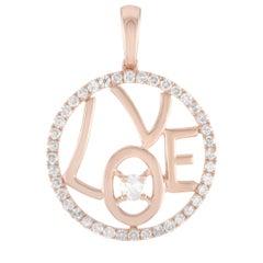 LB Exclusive 14 Karat Rose Gold 0.30 Carat Diamond Pendant