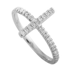 LB Exclusive 14 Karat White Gold 0.23 Carat Diamond Ring