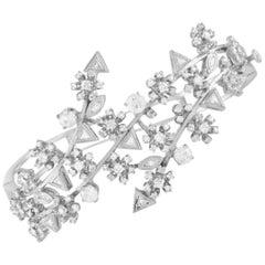 LB Exclusive 14 Karat White Gold, 2.75 Carat Diamond Bracelet