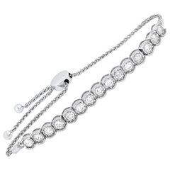 LB Exclusive 14 Karat White Gold 3.00 Carat Diamond Bracelet