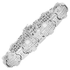 LB Exclusive 14 Karat White Gold 4.00 Carat Diamond Bracelet