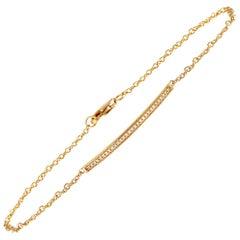 LB Exclusive 14 Karat Yellow Gold 0.08 Carat Diamond Bracelet