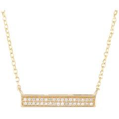 LB Exclusive 14 Karat Yellow Gold 0.10 Carat Diamond Pendant Necklace