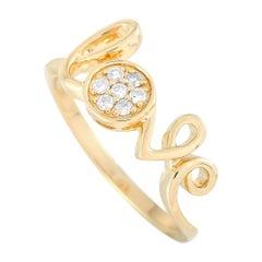 LB Exclusive 14 Karat Yellow Gold 0.10 Carat Diamond Ring