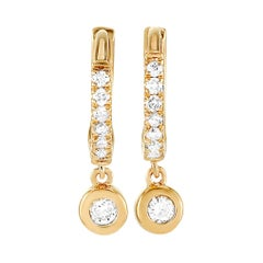 LB Exclusive 14 Karat Yellow Gold 0.15 Carat Diamond Earrings
