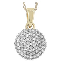 LB Exclusive 14 Karat Yellow Gold 0.24 Carat Diamond Pendant Necklace