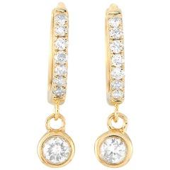 LB Exclusive 14 Karat Yellow Gold 0.25 Carat Diamond Earrings