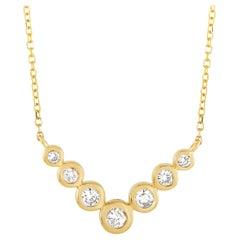 LB Exclusive 14 Karat Yellow Gold 0.25 Carat Diamond Pendant Necklace