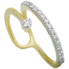 LB Exclusive 14 Karat Yellow Gold 0.25 Carat Diamond Ring