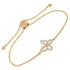 LB Exclusive 14 Karat Yellow Gold 0.30 Carat Diamond Butterfly Bracelet
