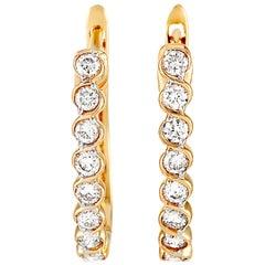 LB Exclusive 14 Karat Yellow Gold 0.33 Carat Diamond Earrings