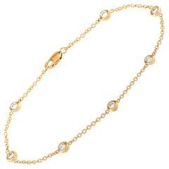 LB Exclusive 14 Karat Yellow Gold 0.50 Carat Diamond Bracelet