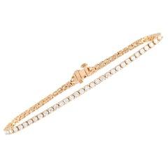 LB Exclusive 14 Karat Yellow Gold 5.00 Carat Diamond Tennis Bracelet