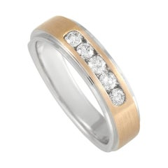 LB Exclusive 14k Rose and White Gold 0.50 Ct Band Ring