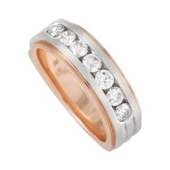 LB Exclusive 14k Rose and White Gold 1.00 Ct Diamond Band Ring