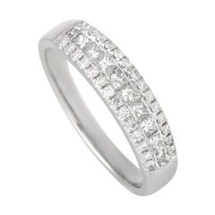 LB Exclusive 14k White Gold 0.61 Ct Diamond Ring