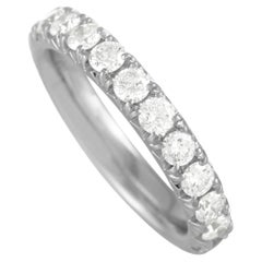 LB Exclusive 14K White Gold 1.81 Ct Diamond Infinity Band Ring