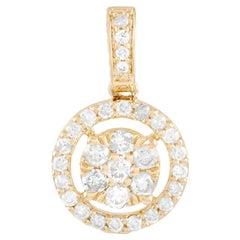 LB Exclusive 14K Yellow Gold 0.25 Ct Diamond Pendant