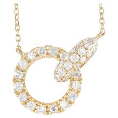LB Exclusive 14k Yellow Gold 0.39 Ct Diamond Pendant Necklace