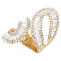 LB Exclusive 14K Yellow Gold 4.89 Ct Diamond Ring