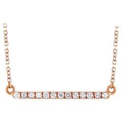LB Exclusive 18 Karat Rose Gold 0.13 Carat Diamond Pendant Necklace