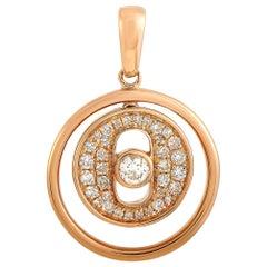 LB Exclusive 18 Karat Rose Gold 0.20 Carat Diamond Pendant