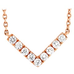 LB Exclusive 18 Karat Rose Gold 0.30 Carat Diamond Pendant Necklace