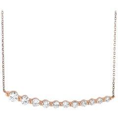 LB Exclusive 18 Karat Rose Gold 1.00 Carat Diamond Pendant Necklace