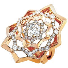 LB Exclusive 18 Karat Rose Gold 1.15 Carat Diamond Ring