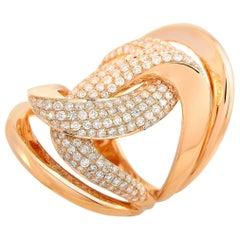 LB Exclusive 18 Karat Rose Gold 1.50 Carat Diamond Ring