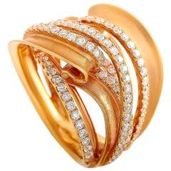 LB Exclusive 18 Karat Rose Gold 1.65 Carat Diamond Ring