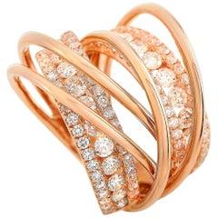 LB Exclusive 18 Karat Rose Gold 2.50 Carat Diamond Ring
