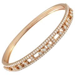 LB Exclusive 18 Karat Rose Gold Diamond Bangle Bracelet