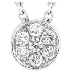 LB Exclusive 18 Karat White Gold 0.20 Carat Diamond Pendant Necklace