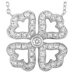 LB Exclusive 18 Karat White Gold 0.39 Carat Diamond Necklace