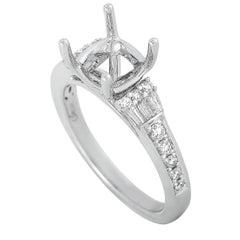 LB Exclusive 18 Karat White Gold 0.46 Carat Diamond Mounting Ring