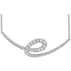 LB Exclusive 18 Karat White Gold 0.48 Carat Diamond Necklace