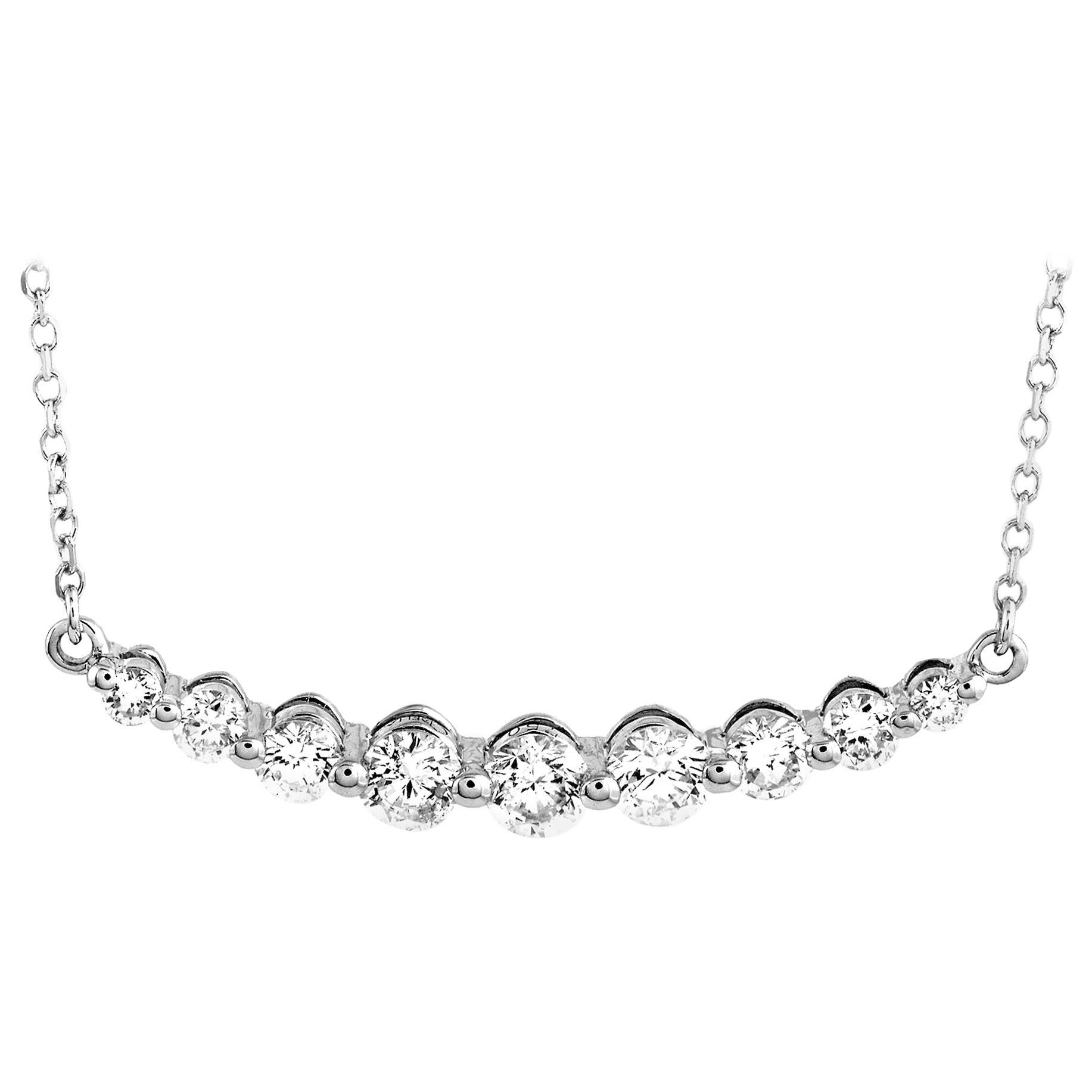 LB Exclusive 18 Karat White Gold 0.50 Carat Diamond Pendant Necklace