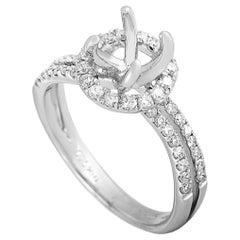 LB Exclusive 18 Karat White Gold 0.52 Carat Diamond Mounting Ring