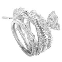 LB Exclusive 18 Karat White Gold 0.65 Carat Diamond Ring