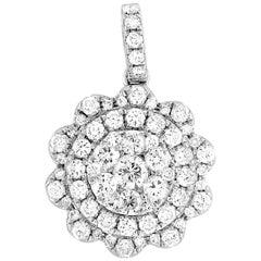 LB Exclusive 18 Karat White Gold 0.70 Carat Diamond Pendant