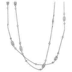 LB Exclusive 18 Karat White Gold 2.07 Carat Diamond Necklace