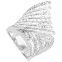 LB Exclusive 18 Karat White Gold 4.70 Carat Diamond Ring