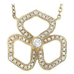 LB Exclusive 18 Karat Yellow Gold 0.15 Carat Diamond Necklace
