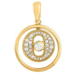 LB Exclusive 18 Karat Yellow Gold 0.20 Carat Diamond Pendant