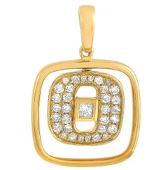 LB Exclusive 18 Karat Yellow Gold 0.25 Carat Diamond Pendant